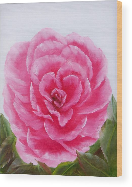 Oil Wood Print featuring the painting Rose by Joni McPherson