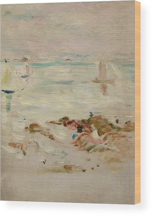 Sailboats Wood Print featuring the painting Sailboats by Berthe Morisot