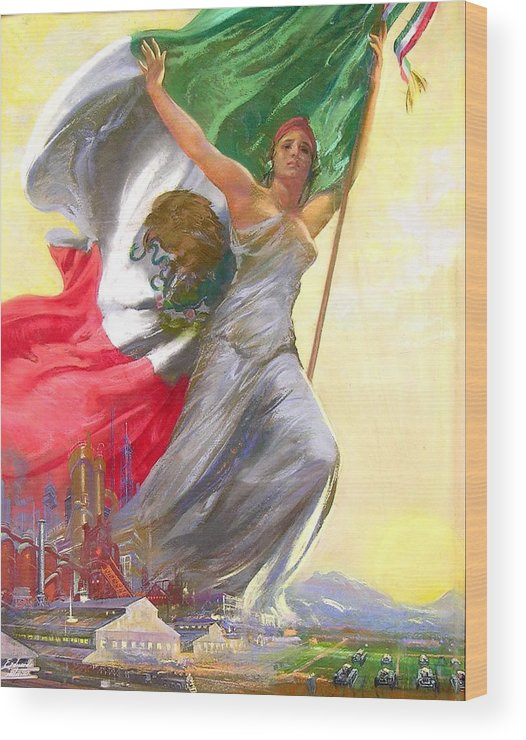 Mexico Wood Print featuring the painting Simepre Mas Que Ayer by Eduardo Catano