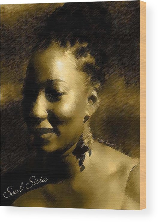 Portrait Wood Print featuring the photograph Soul Sista by LeeAnn Alexander