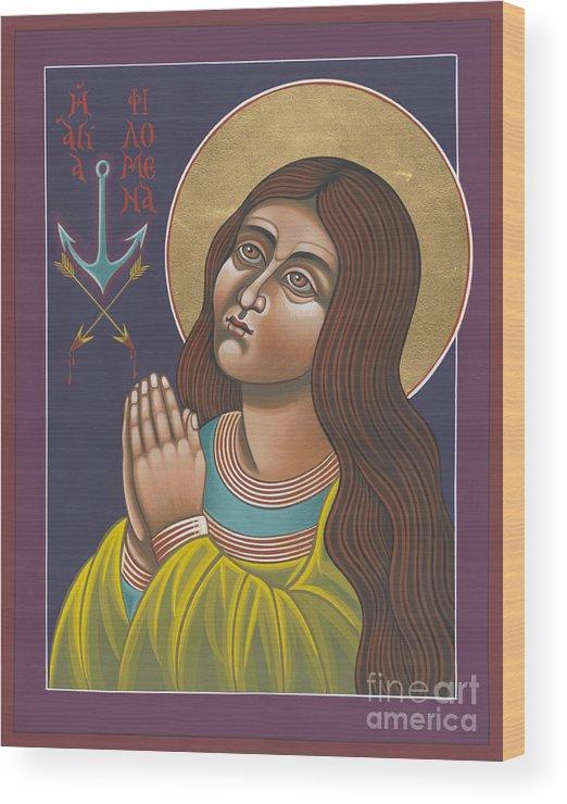 St Philomena Wood Print featuring the painting St Philomena 167 by William Hart McNichols