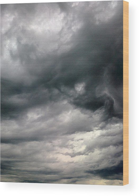 Clouds Wood Print featuring the photograph Swirling Clouds by Stephen Doughten