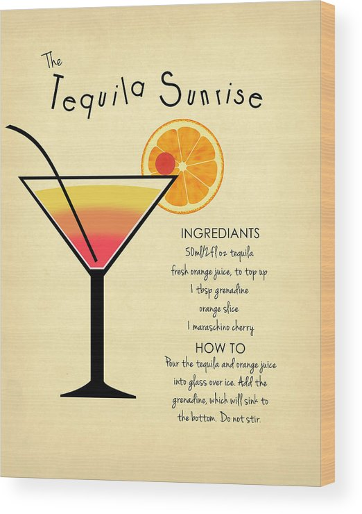 Tequila Sunrise Wood Print featuring the photograph Tequila Sunrise by Mark Rogan