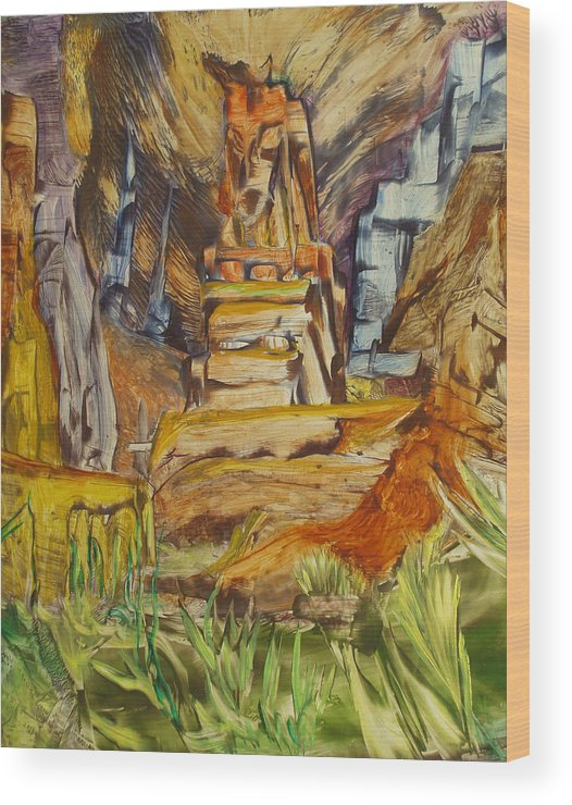 Wax Wood Print featuring the painting The Gate by Ibrahim Rahma