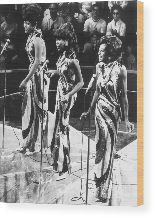 1963 Wood Print featuring the photograph The Supremes, C1963 by Granger