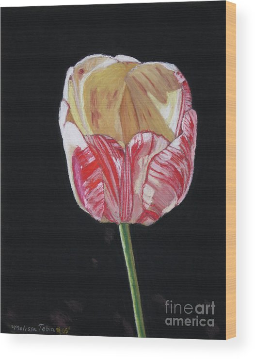 Botanical Wood Print featuring the painting The Tulip by Melissa Tobia