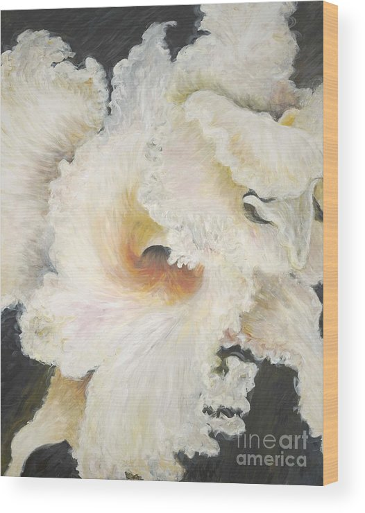 Flower Wood Print featuring the painting Tropical Flowers by Nadine Rippelmeyer