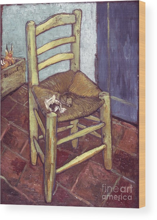 1888 Wood Print featuring the photograph Van Gogh: Chair, 1888-89 by Granger