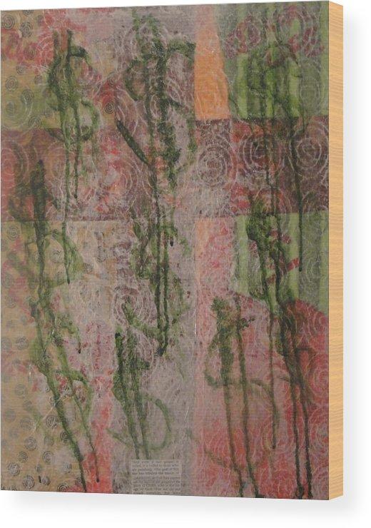 Faith Wood Print featuring the mixed media Veiled by Lisa Graham