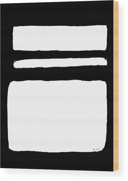 Painting Wood Print featuring the painting White On Black by Marsha Heiken