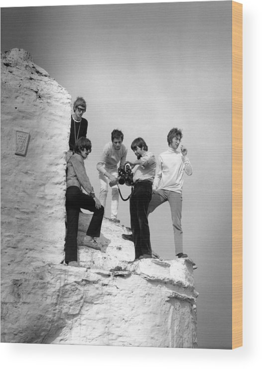 Music Wood Print featuring the photograph Photo Of Magical Mystery Tour And John by David Redfern