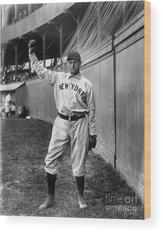 Sports Ball Wood Print featuring the photograph National Baseball Hall Of Fame Library by National Baseball Hall Of Fame Library