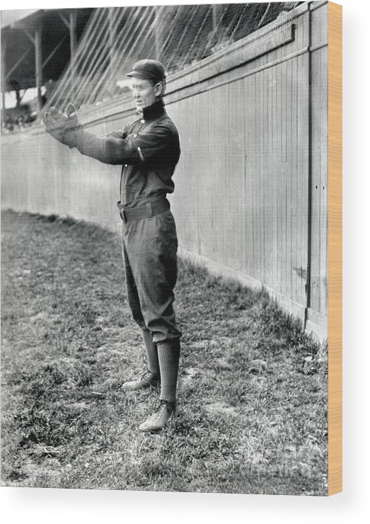 American League Baseball Wood Print featuring the photograph National Baseball Hall Of Fame Library by National Baseball Hall Of Fame Library