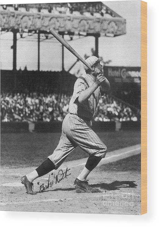 Following Wood Print featuring the photograph National Baseball Hall Of Fame Library 197 by National Baseball Hall Of Fame Library