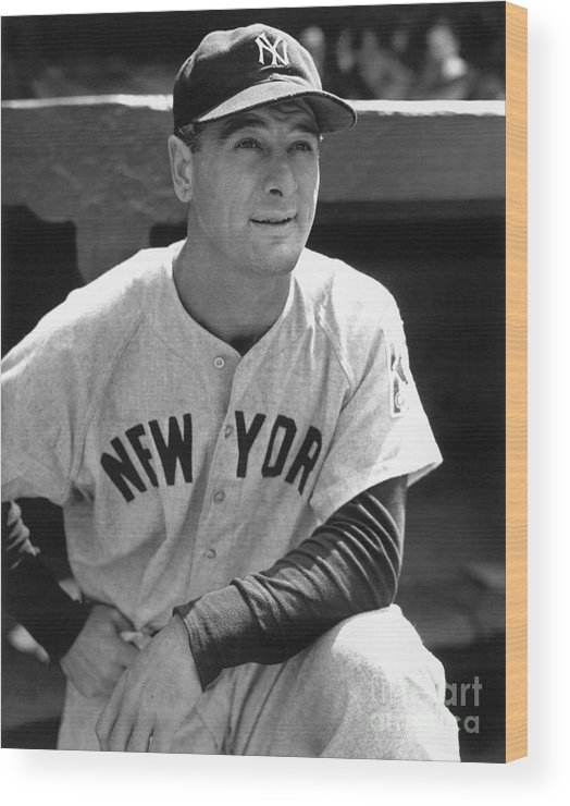People Wood Print featuring the photograph Lou Gehrig by National Baseball Hall Of Fame Library