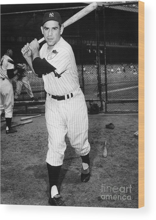 People Wood Print featuring the photograph Yogi Berra by National Baseball Hall Of Fame Library