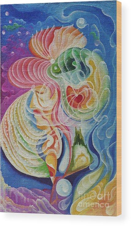 Surrealism Art Wood Print featuring the painting Surrealism Untitled by Vladimir Kirillov