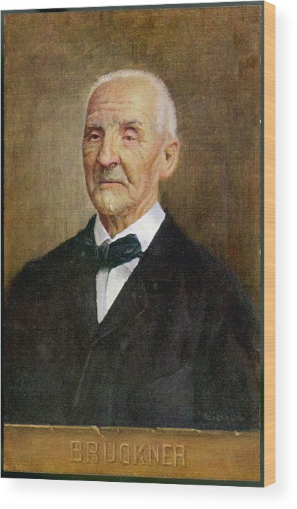 Bruckner Wood Print featuring the drawing Anton Bruckner Austrian Musician by Mary Evans Picture Library