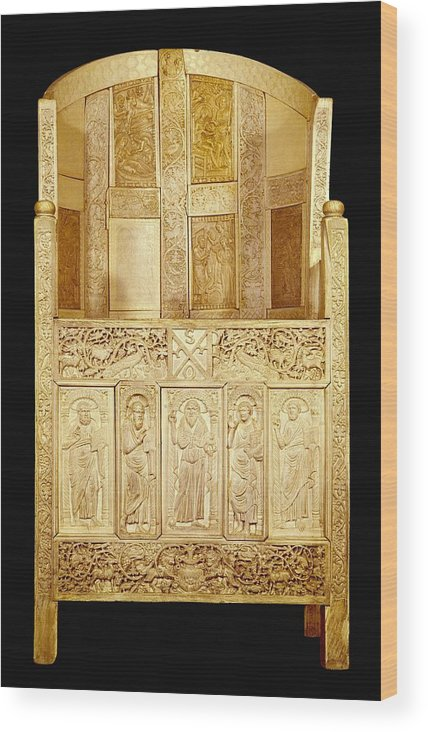 Vertical Wood Print featuring the photograph Cathedral Of Bishop Maximianus by Everett