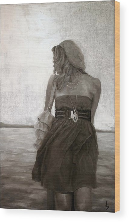 People Wood Print featuring the painting Dolce Breeza by Alison Schmidt Carson