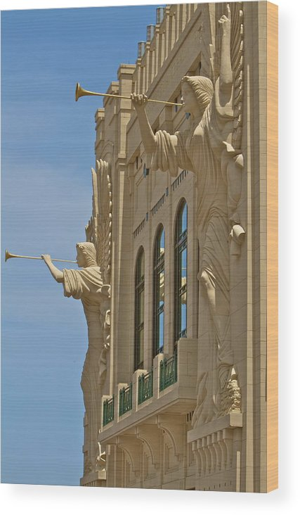 Ort Worth Wood Print featuring the photograph Fort Worth's Angels by John Babis