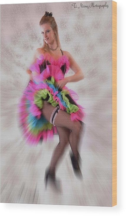 Dance Wood Print featuring the photograph Marcee Mickelle by Ti Oakva