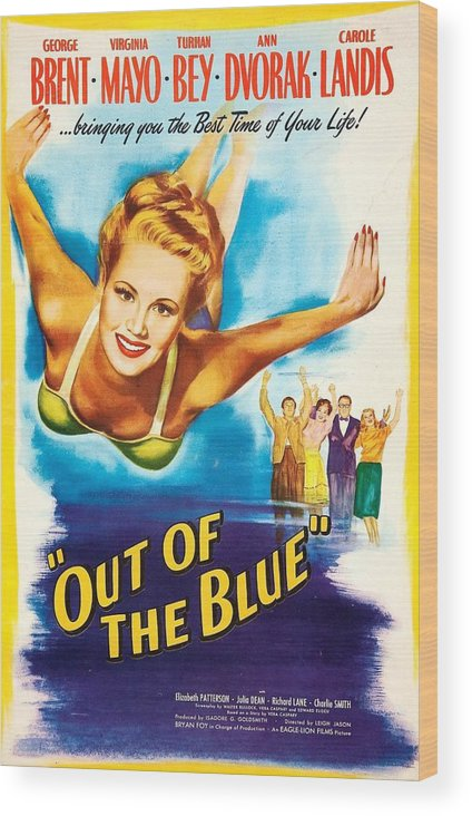1940s Movies Wood Print featuring the photograph Out Of The Blue, Us Poster, From Left by Everett