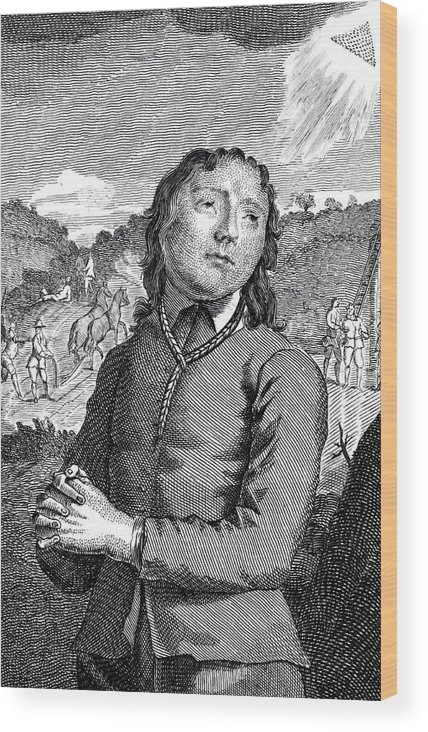 Richard Wood Print featuring the drawing Richard Hurst Catholic, Hanged by Mary Evans Picture Library