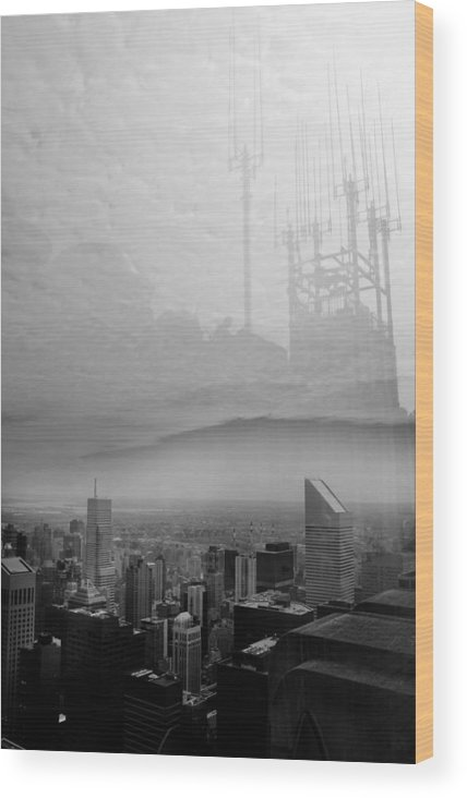 Rockefeller Wood Print featuring the photograph Rockefeller Center by Jacob Leff