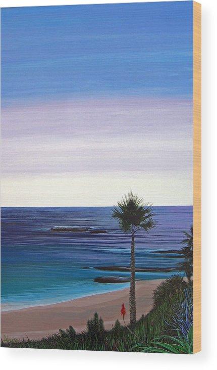 Malibu Beach Wood Print featuring the painting Summer Samba by Hunter Jay