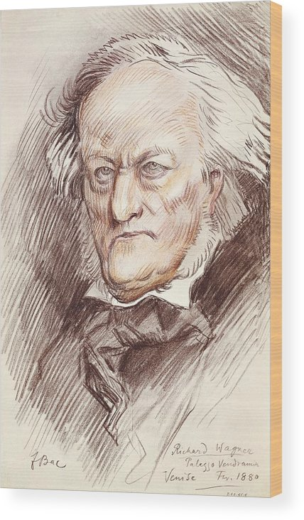 Vertical Wood Print featuring the photograph Wagner, Richard 1813-1883. German by Everett