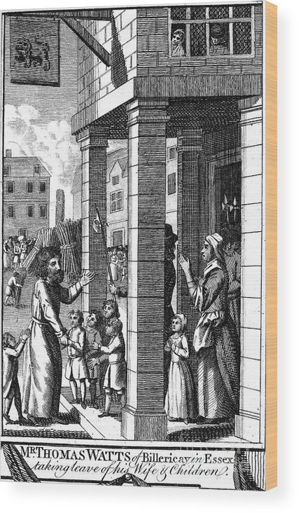 16th Century Wood Print featuring the photograph Foxe: Book Of Martyrs by Granger