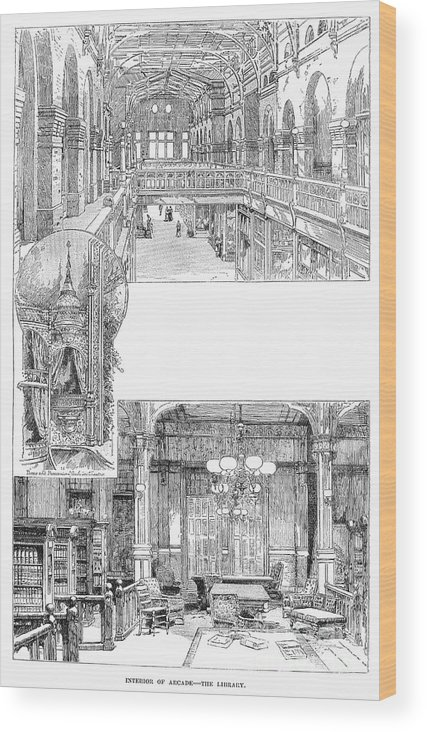 1885 Wood Print featuring the photograph Pullman: Arcade, C1885 by Granger