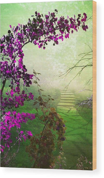 Scenery Wood Print featuring the photograph Somewhere by Shirley Sirois