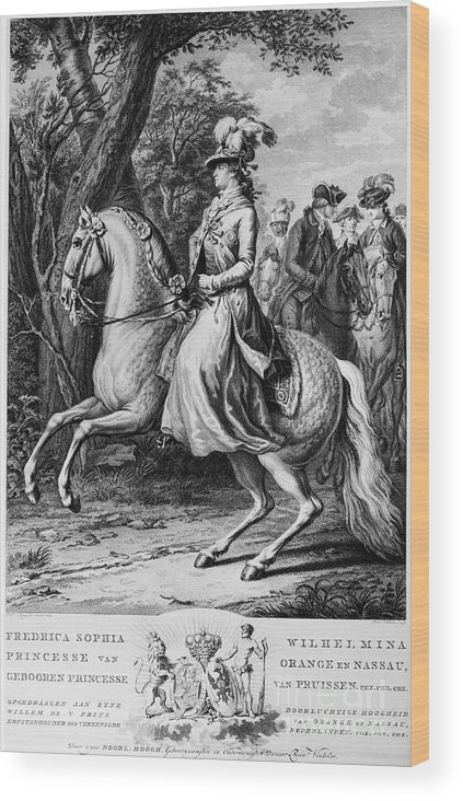 1779 Wood Print featuring the photograph Wilhelmina Of Prussia by Granger
