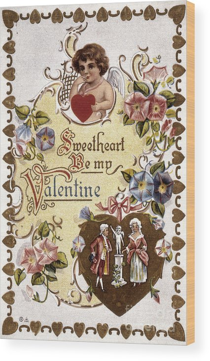 1910 Wood Print featuring the photograph Valentines Day Card by Granger