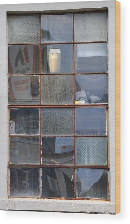 Window Wood Print featuring the photograph 18 Panes by Kevin Myron