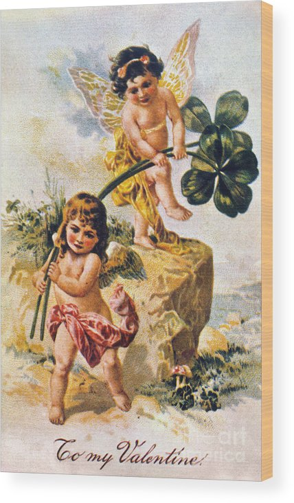 1900 Wood Print featuring the photograph Valentines Day Card by Granger