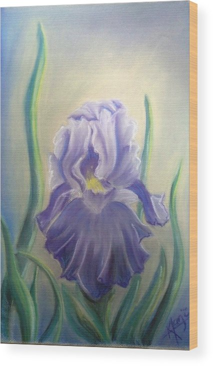 Iris Wood Print featuring the drawing A Warm Glow by Karina Repp