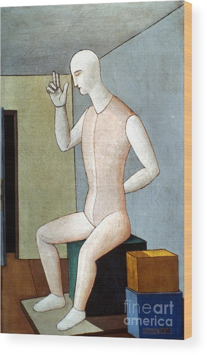 20th Century Wood Print featuring the photograph Carra: Idol, 1917 by Granger