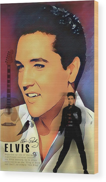 Elvis Presley Art Wood Print featuring the digital art Elvis Presley by Gary Greer