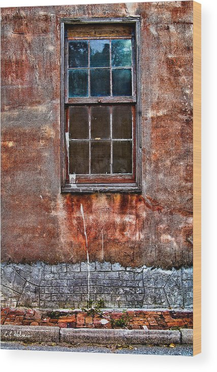 Window Wood Print featuring the photograph Faded Over Time by Christopher Holmes