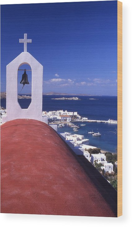 Church Wood Print featuring the photograph Greece. Mykonos by Steve Outram