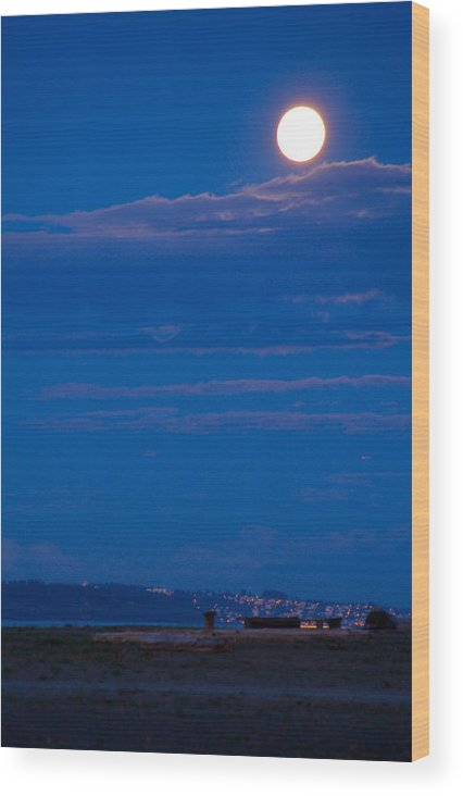 Moon Wood Print featuring the photograph Harvest Moon by Paul Kloschinsky