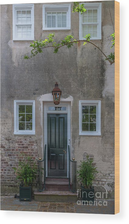 Entrance Wood Print featuring the photograph Historic Downtown Charleston Entrance by Dale Powell