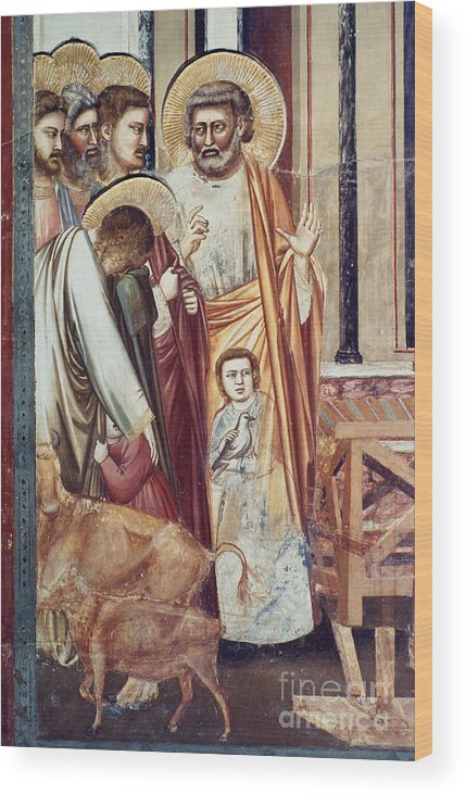 1304 Wood Print featuring the photograph Jesus & Moneychanger by Granger
