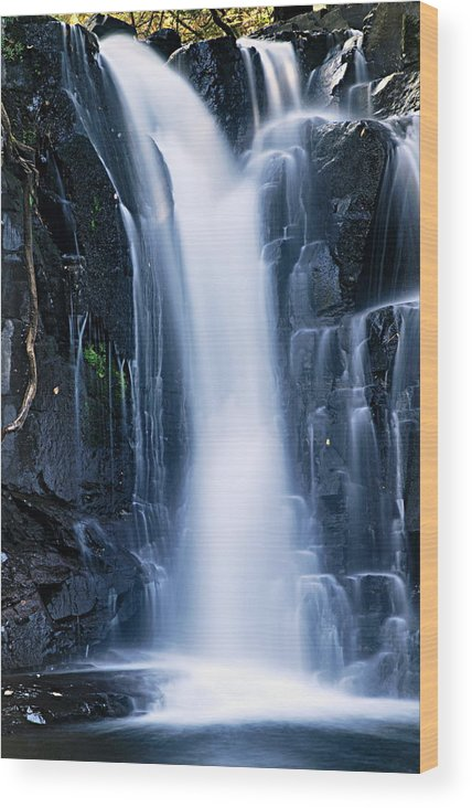 Boundary Waters Canoe Area Wilderness Wood Print featuring the photograph Lower Johnson Falls 3 by Larry Ricker