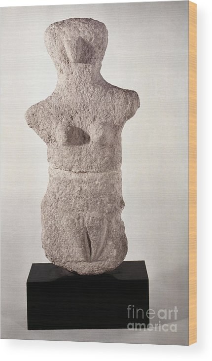 3500 B.c. Wood Print featuring the photograph Neolithic Figure by Granger
