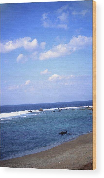 Okinawa Wood Print featuring the photograph Okinawa Beach 7 by Curtis J Neeley Jr