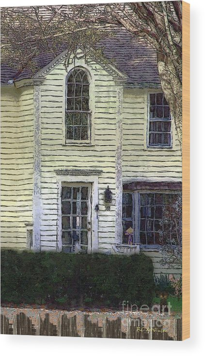 House Wood Print featuring the painting Our Town's Witch House by RC DeWinter